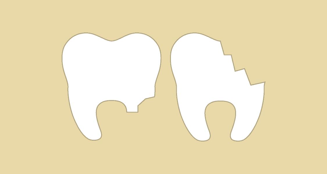 Illustration af tandskader